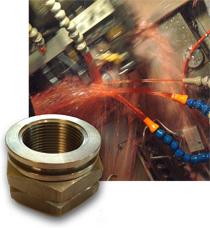 Klincher Locknut, Swiss machine in operation with coolant